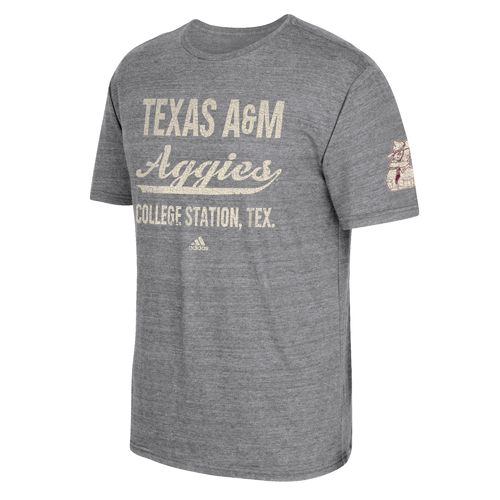 adidas Men's Texas A&M University Stenciled Sweep T-shirt