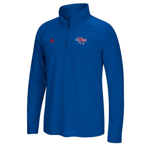 adidas Men's Louisiana Tech University Sideline Basic Logo 1/4 Zip Pullover