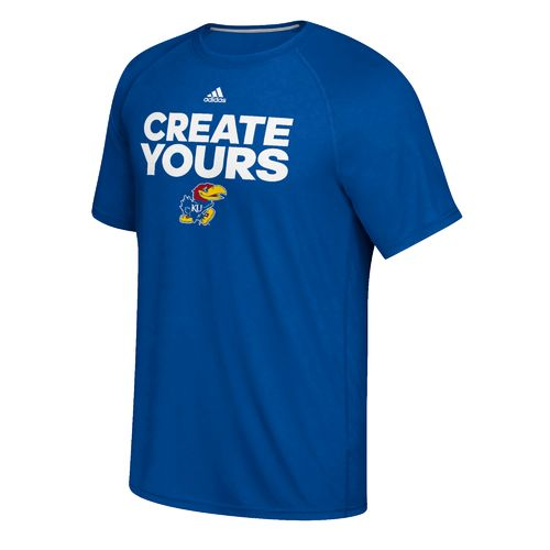 adidas Men's University of Kansas Create Yours Basketball T-shirt