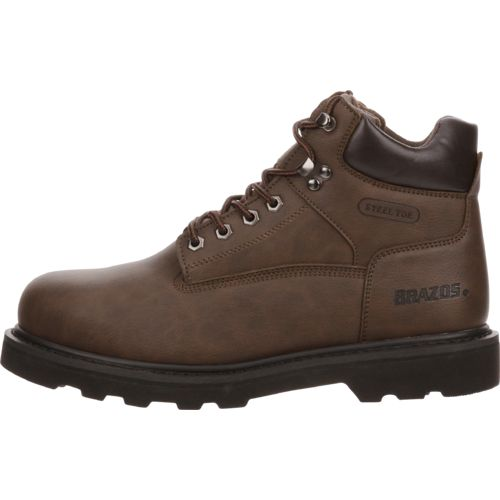 Display product reviews for Brazos Men's Tradesman Steel-Toe Work Boots