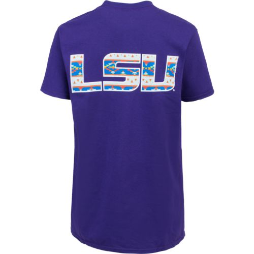New World Graphics Women's Louisiana State University Logo Aztec T-shirt