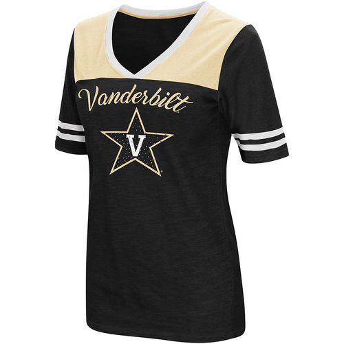 Colosseum Athletics Women's Vanderbilt University Twist 2.1 V-Neck T-shirt