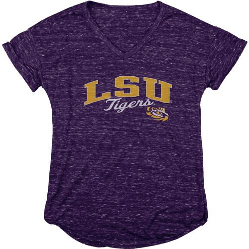 Blue 84 Women's Louisiana State University Dark Confetti V-neck T-shirt