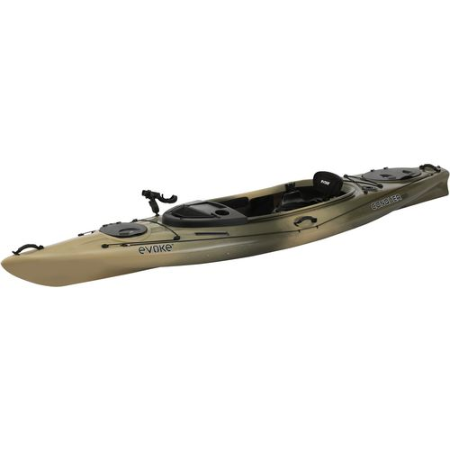 Evoke conquer 120 12 ft camo fishing kayak academy for Fishing kayak academy