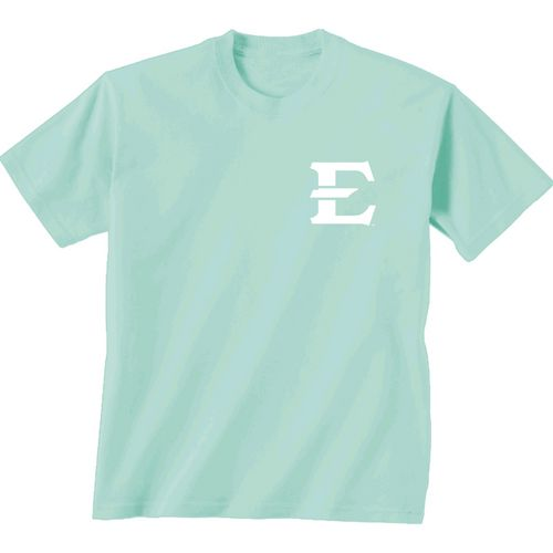 New World Graphics Women's East Tennessee State University Comfort Color Circle Flowers T-shirt - view number 2
