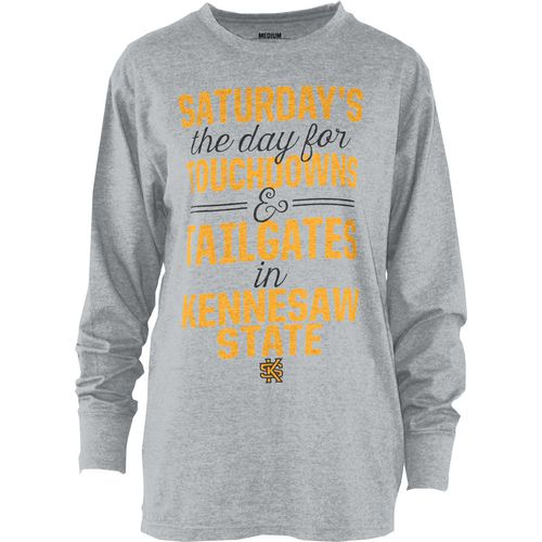 Three Squared Juniors' Kennesaw State University Touchdowns and Tailgates T-shirt