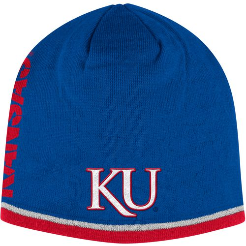 adidas Men's University of Kansas Sideline Coach Cuffless Beanie