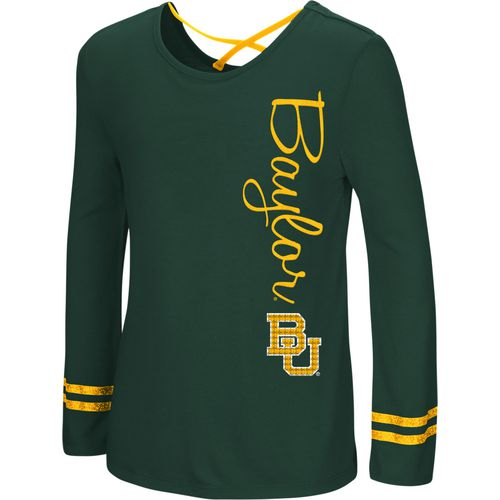 Colosseum Athletics Girls' Baylor University Marks the Spot Strappy Back Long Sleeve T-shirt