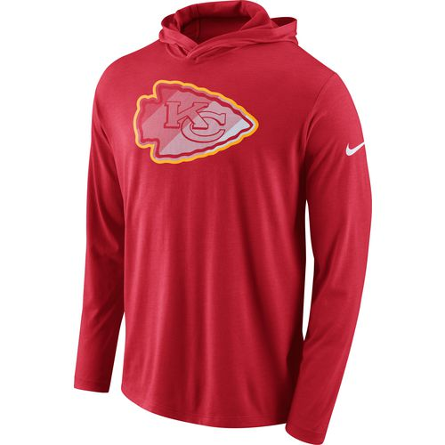 Nike Men's Kansas City Chiefs Dri-Blend Hoodie T-shirt
