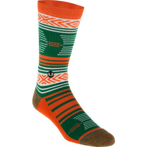 Stance Men's University of Miami Mazed Crew Socks