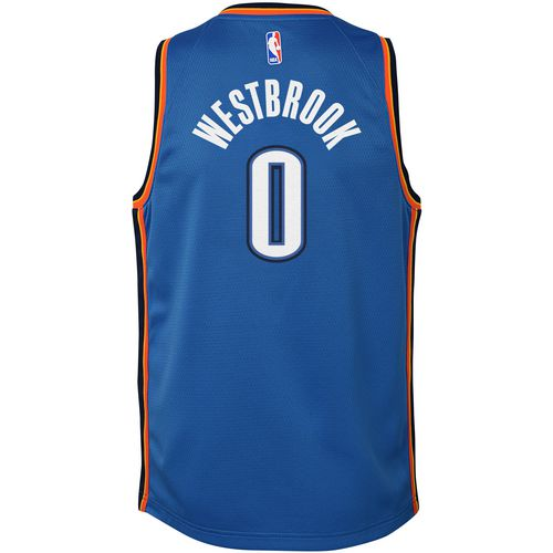 Nike Boys' Oklahoma City Thunder Russell Westbrook 0 Swingman Icon Jersey