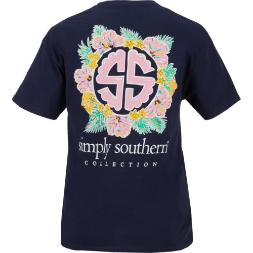 Display product reviews for Simply Southern Women's Floral Circle Logo T-shirt