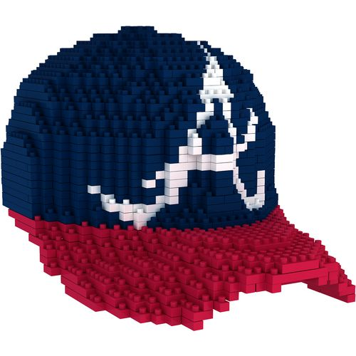 Forever Collectibles Atlanta Braves 3-D BRXLZ Mini Baseball Cap Puzzle