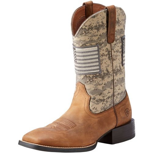 Ariat Men's Sport Patriot Western Camo Boots (Green Medium, Size 7) - Men's Ropers at Academy Sports thumbnail