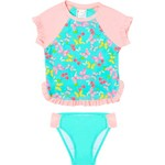 O'Rageous Girls' Butterfly Dance 2-Piece Rash Guard - view number 2