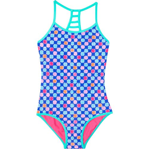 O'Rageous Girls' Hashtag Reversible 1-Piece Swimsuit
