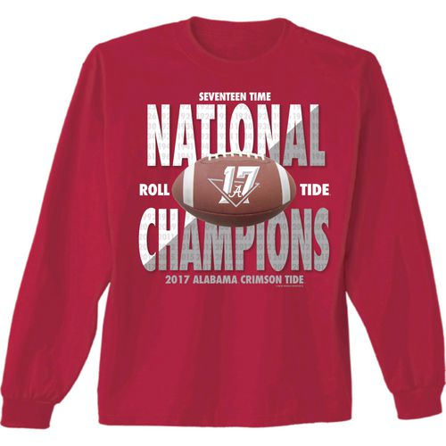 New World Graphics Men's University of Alabama 2017 CFP National Champs Long Sleeve T-Shirt