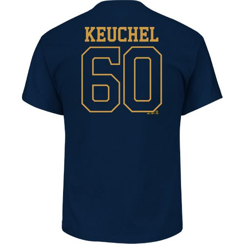 Majestic Men's Houston Astros Dallas Keuchel 60 Gold Name and Number T-shirt