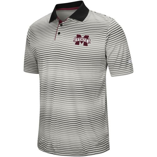 Colosseum Athletics Men's Mississippi State University Lesson Number One Polo Shirt