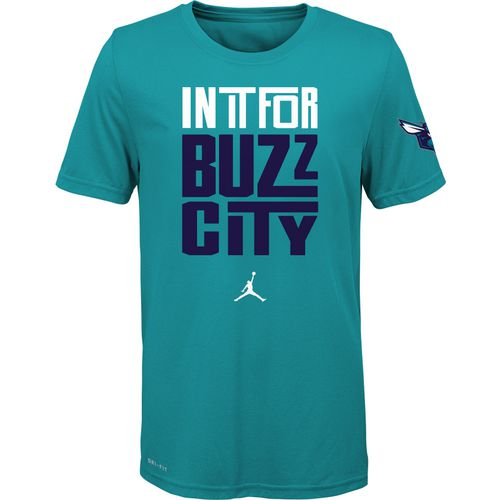 Nike Boys' Charlotte Hornets In It Verbiage Dri-FIT T-shirt