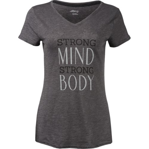 BCG Women's Strong Mind Graphic V-neck T-shirt