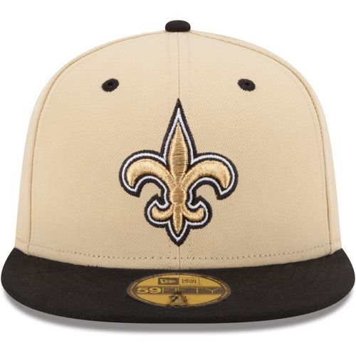 New Era Men's New Orleans Saints 2-Tone 59FIFTY Fitted Cap