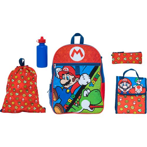Nintendo Mario Kids' 5 Piece Set Backpack