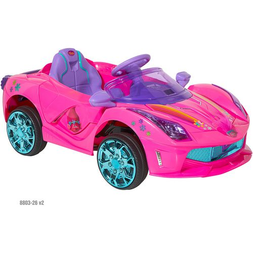 Dynacraft Girls' 6 V Trolls Super Coupe Ride-On Vehicle