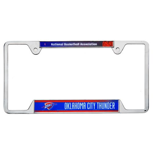 "WinCraft Oklahoma City Thunder 6"" x 12"" Metal License Plate Frame"