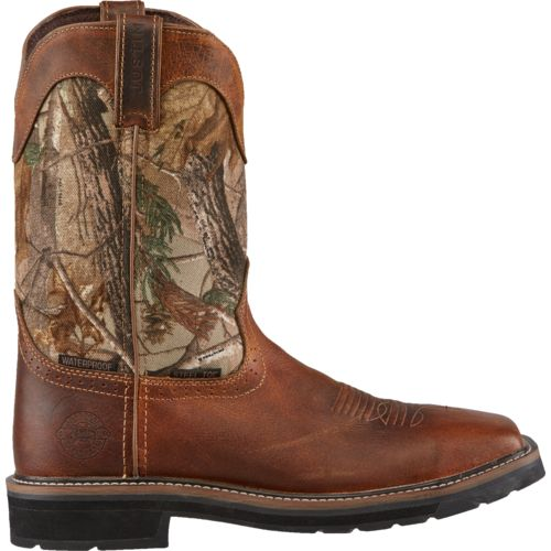 Justin Men s Stampede  Steel-Toe Work Boots
