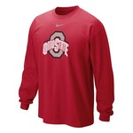 Nike Men's Ohio State University Long Sleeve Classic Logo T-shirt