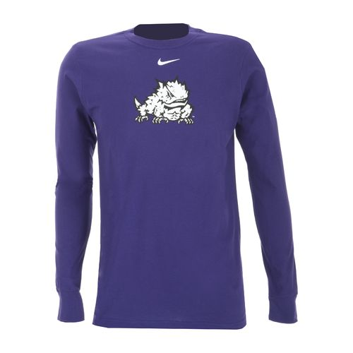Nike Men's Texas Christian University Long Sleeve Classic Logo T-shirt