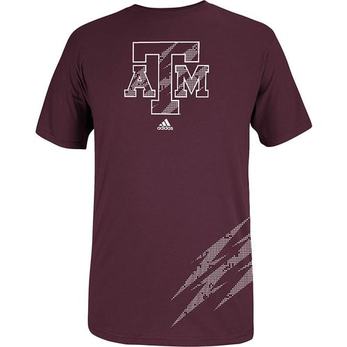 adidas Men s Texas A&M University Logo Shock T-shirt