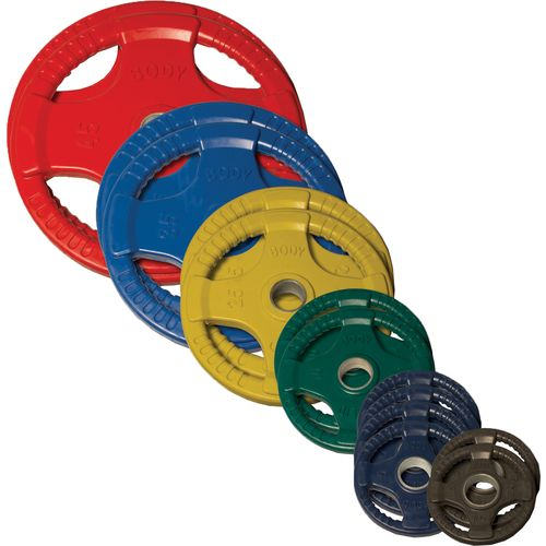 Body-Solid 255 lb. Colored Rubber Grip Olympic Plate