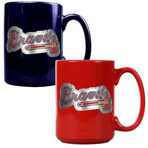Great American Products Atlanta Braves 15 oz. Ceramic Mug Set
