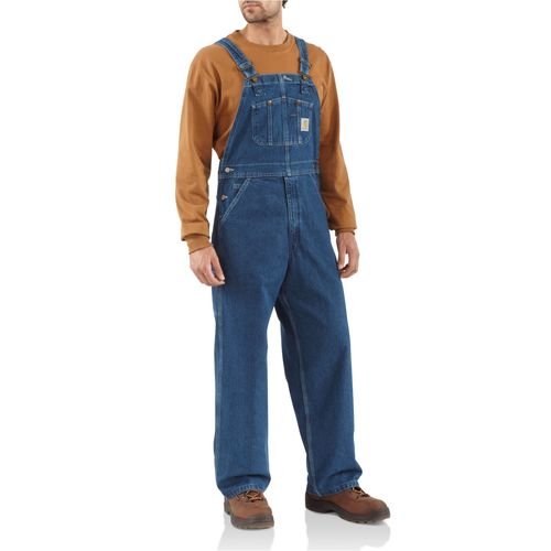 Carhartt Men's Washed Denim Bib Overall