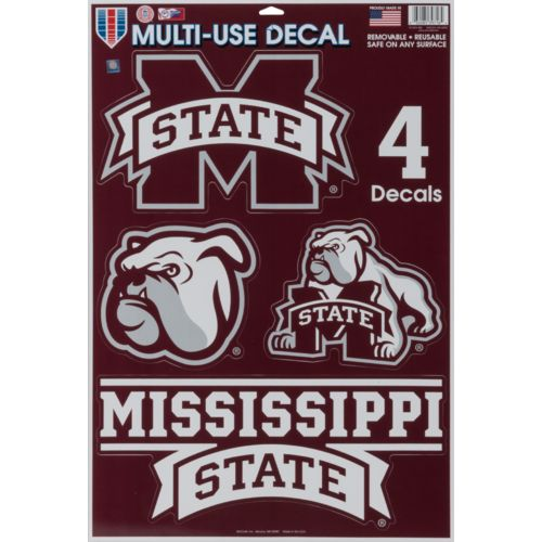WinCraft Mississippi State University Multiuse Decals 4-Pack