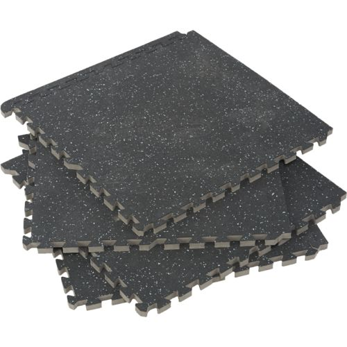 BCG™ Commercial-Grade Gym Flooring Tiles 4-Pack
