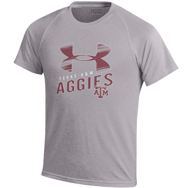 Under armour kids 39 texas a m university tech t shirt for Academy under armour shirts
