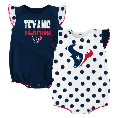 NFL Infant Girls' Houston Texans Polka Fan Creepers