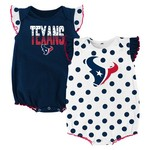 NFL Infant Girls' Houston Texans Polka Fan Creepers 2-Pack