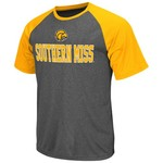 Colosseum Athletics Men's University of Southern Mississippi Rider Short Sleeve Poly Raglan T-sh