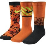 Nike Boys' Multigraphic Cotton Crew Socks 3-Pair