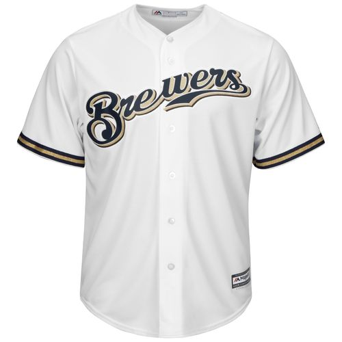 Majestic Men's Milwaukee Brewers Cool Base® Replica Jersey - view number 1