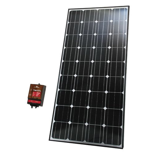 Ecowareness 160W Monocrystalline Solar Panel 12V Battery Charger