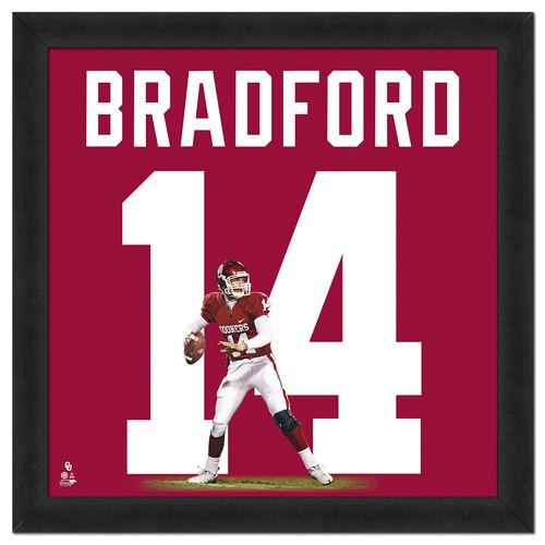 "Photo File University of Oklahoma Sam Bradford #14 UniFrame 20"" x 20"" Framed Photo"