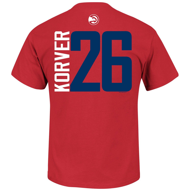 Majestic men 39 s atlanta hawks kyle korver 26 custom t for Atlanta custom t shirts