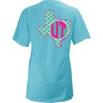 Three Squared Juniors' University of Texas Quatrefoil State Monogram T-shirt