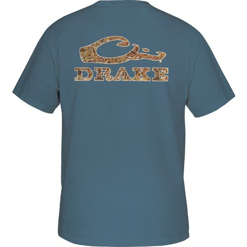 Display product reviews for Drake Waterfowl Men's Camo Logo T-shirt