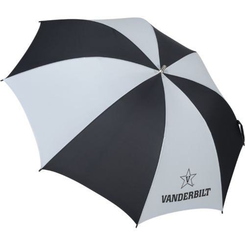 Storm Duds Vanderbilt University Fiberglass Shaft Golf Umbrella with Color-Coordinated ID Handle